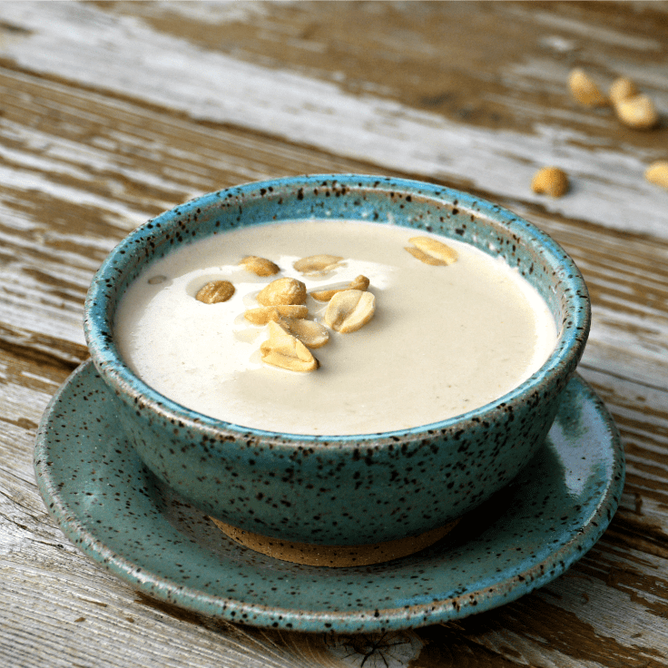 Savory Cream of Peanut Soup {with 21 Toppings} - We've updated the historical recipe with 21st Century tastes in mind, while retaining the rich, satisfying essence of original. (Inspired by the King's Arms Tavern in Colonial Williamsburg, Williamsburg, Virginia. | The Good Hearted Woman