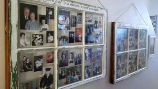 """Windows to the Past"" -  How to Make an Epic Family Photo Display from Vintage Windows"