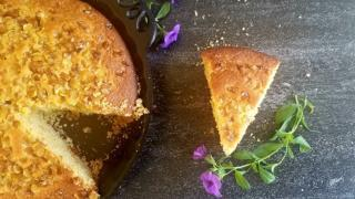 Sweet Skillet Cornbread {with Pan-fried Maple Corn}