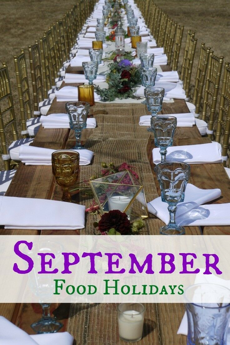 September Food Holidays | The Good Hearted Woman