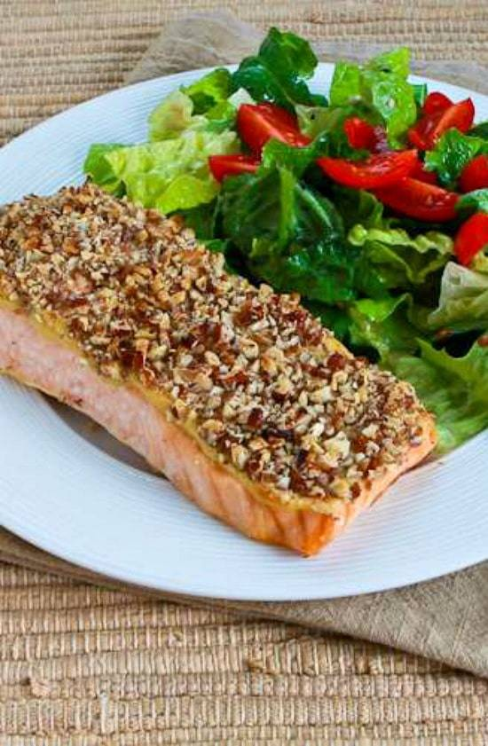 Quick and Easy Low-Carb Pecan-Crusted Dijon Salmon