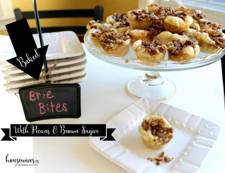 Baked Brie Bites with Pecans & Brown Sugar - Housewives of Frederick County