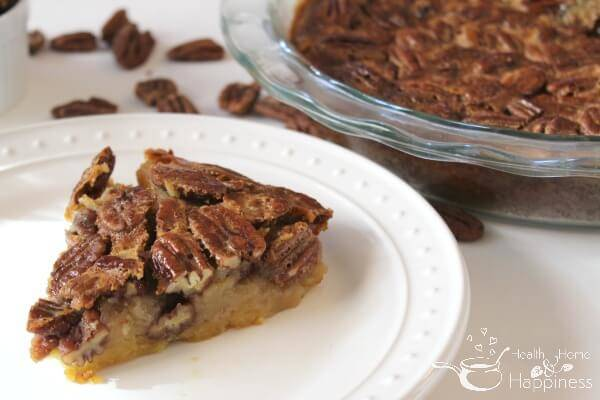 Grain-Free Pecan Pie Made with Honey