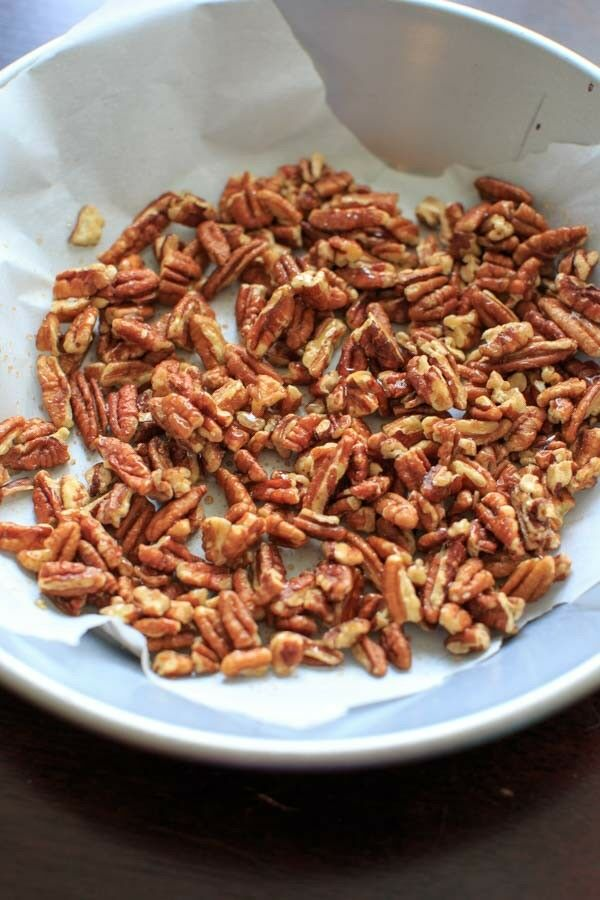 Honey Roasted Pecans - 2 ingredient gluten-free snack