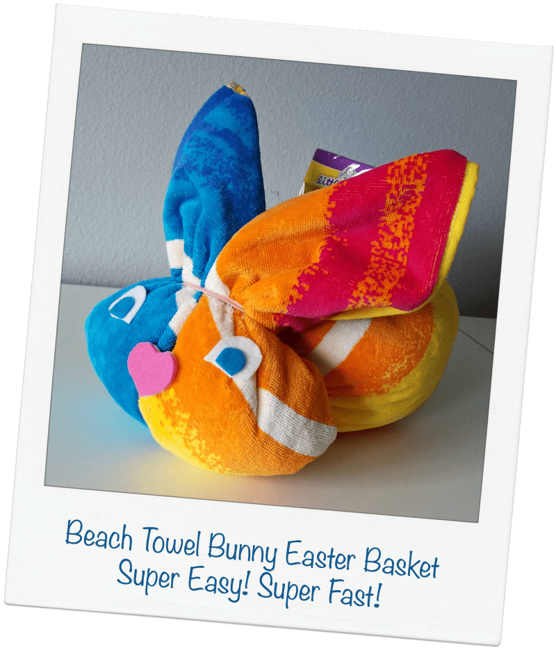 Beach Towel Bunny Easter Basket