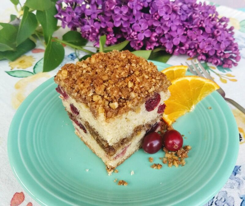 Cranberry Crumb Sourdough Coffee Cake