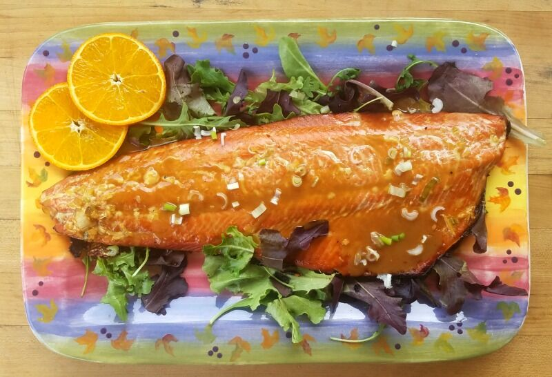 Honey Glazed Salmon with Ginger & Orange