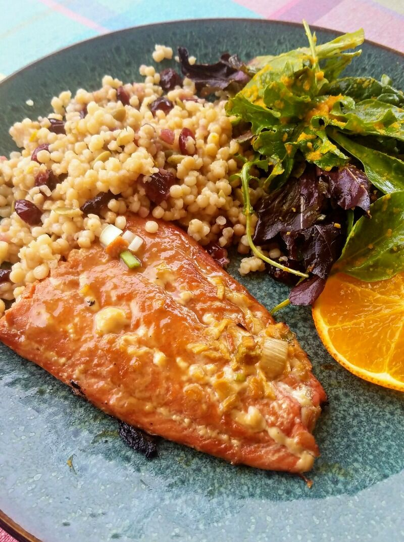 Honey Glazed Salmon with Ginger & Orange 1