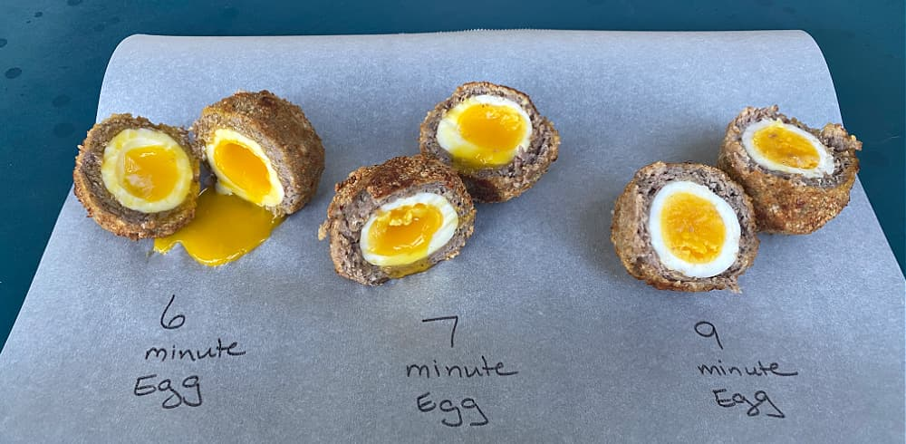 Scotch egg - egg time comparison